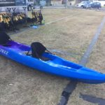 The kayak set up as a double.