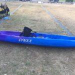 The kayak set up as a single.